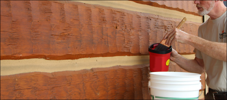 Professional Log Home Staining